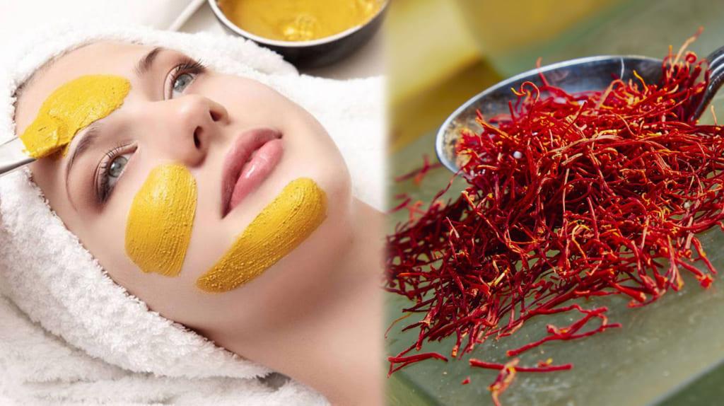 Saffron làm đẹp da bằng đắp mặt nạ