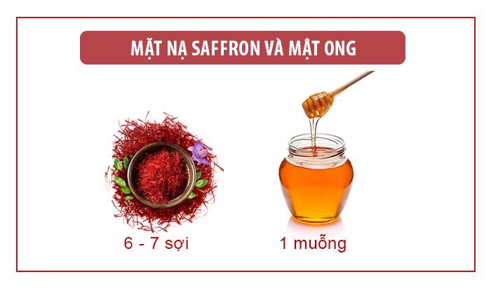 mặt nạ saffron mật ong