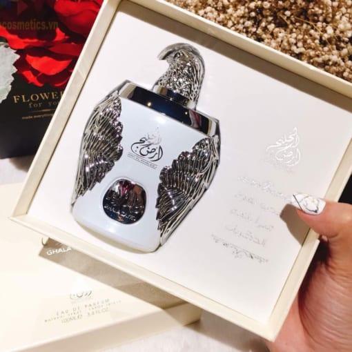 Nước hoa Dubai Đại bàng trắng Ghala Zayed Luxury Silver 3