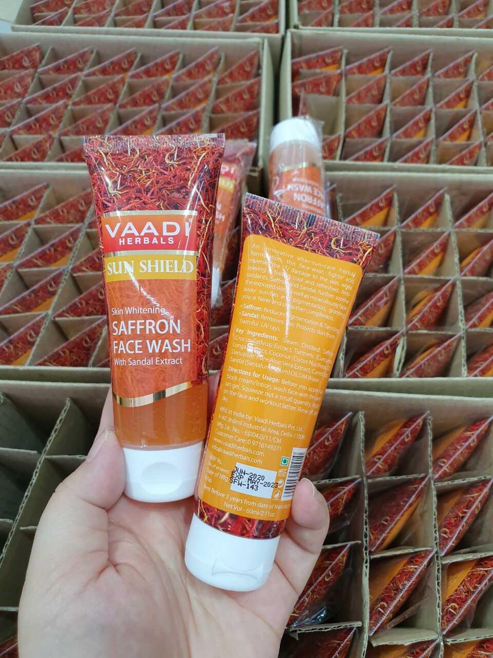 Sữa rửa mặt Saffron Vaadi 8