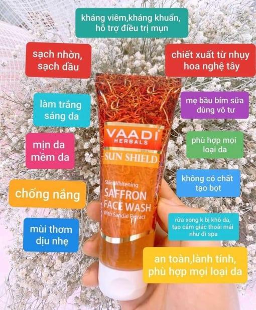 Sữa rửa mặt Saffron Vaadi 1