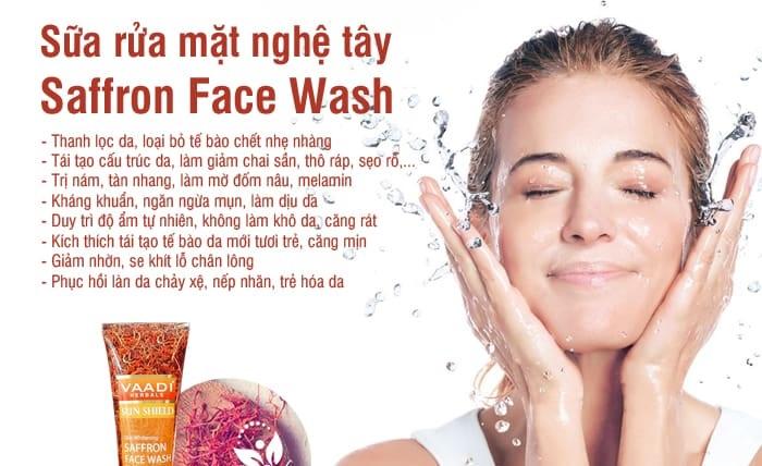 Sữa rửa mặt Saffron Vaadi 7